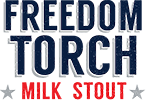 logo freedom torch milk stout 100h