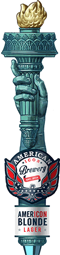 AmerIcon Blonde Lager Tap Handle