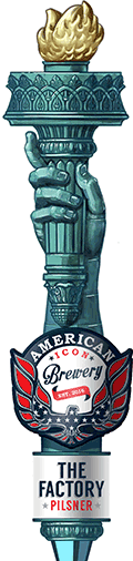 The Factory Pilsner Tap Handle
